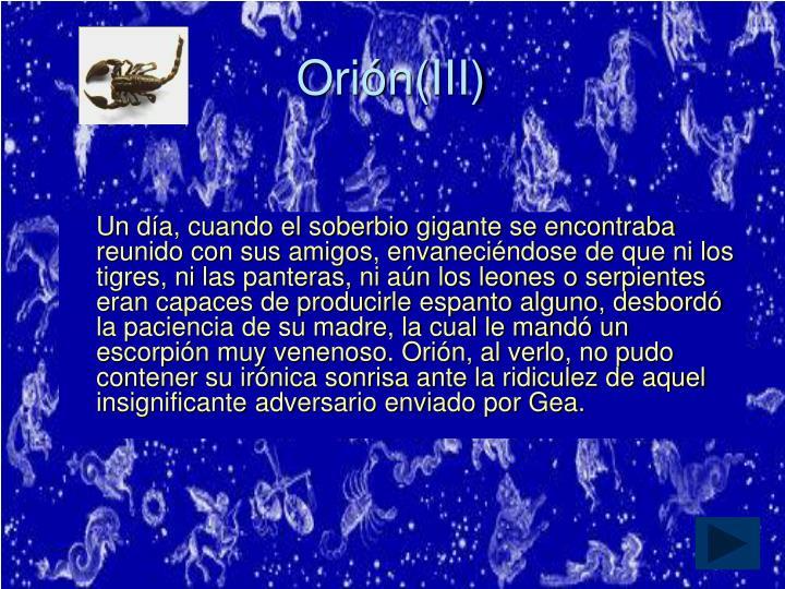 Orión(III)
