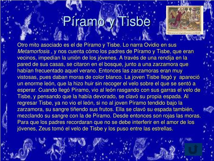 Píramo y Tisbe