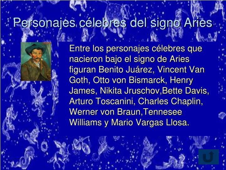Personajes célebres del signo Aries