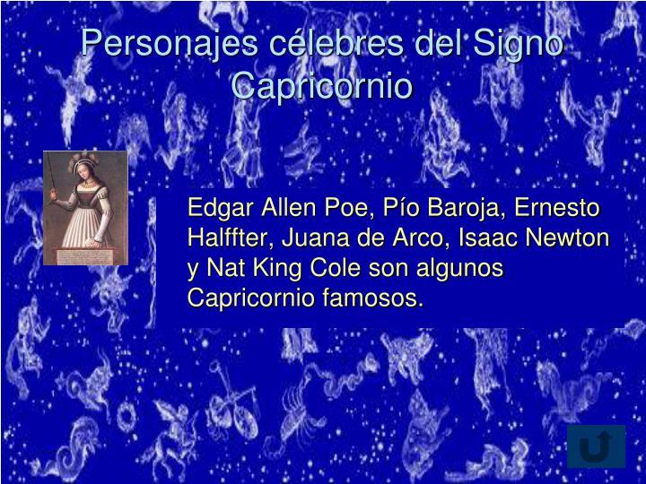 Personajes célebres del Signo Capricornio