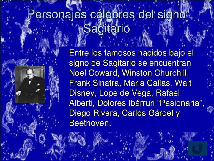Personajes célebres del signo Sagitario