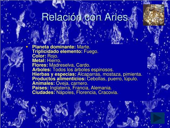 Relación con Aries