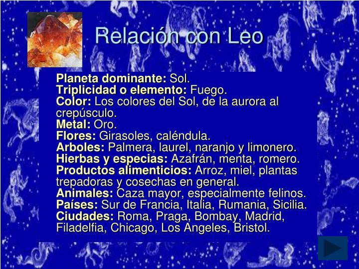 Relación con Leo