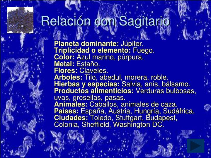 Relación con Sagitario