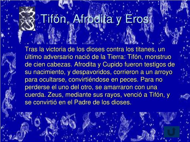 Tifón, Afrodita y Eros