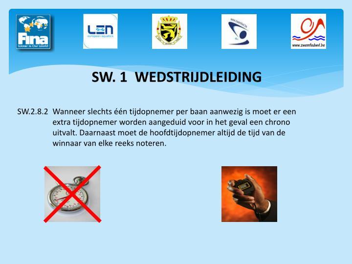 SW. 1  WEDSTRIJDLEIDING