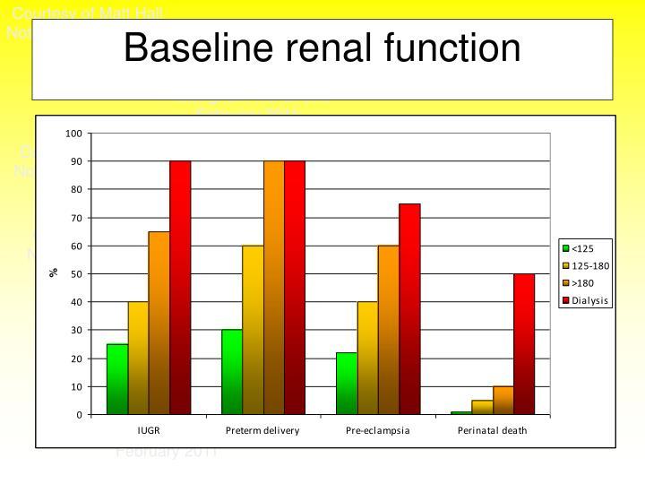 Baseline renal function