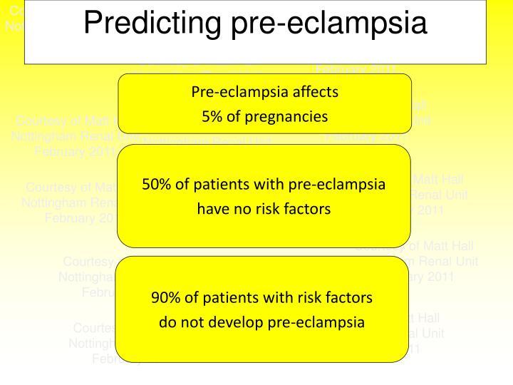 Predicting pre-eclampsia