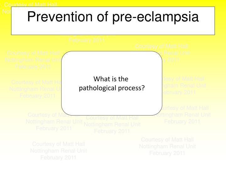 Prevention of pre-eclampsia