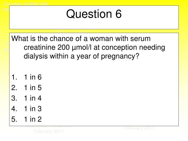 What is the chance of a woman with serum creatinine 200