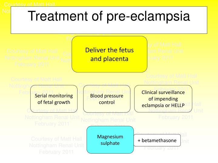 Treatment of pre-eclampsia