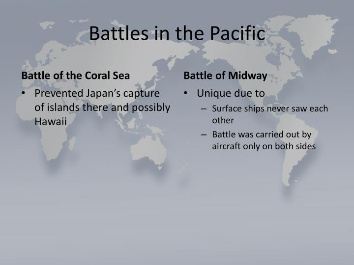 Battles in the Pacific