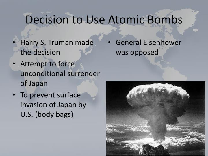 Decision to Use Atomic Bombs