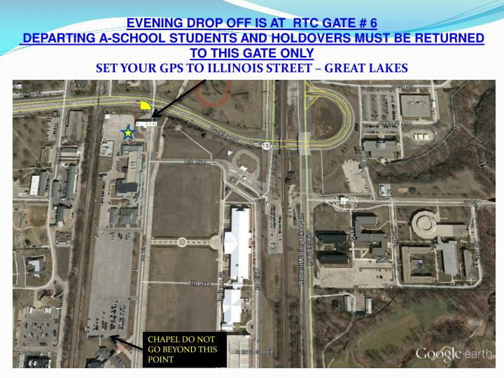 EVENING DROP OFF IS AT  RTC GATE # 6