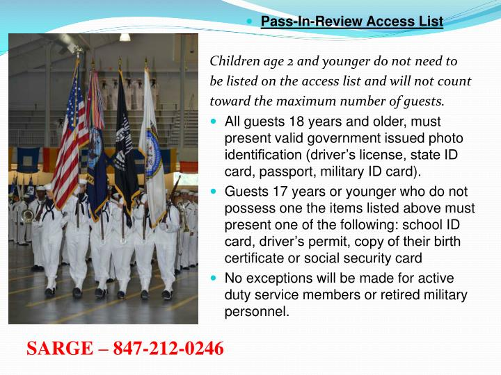 Pass-In-Review Access List