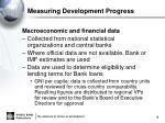 measuring development progress