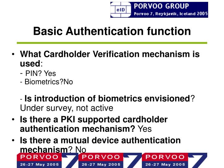 Basic Authentication function