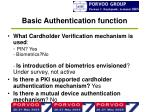 basic authentication function