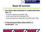 basic id function1