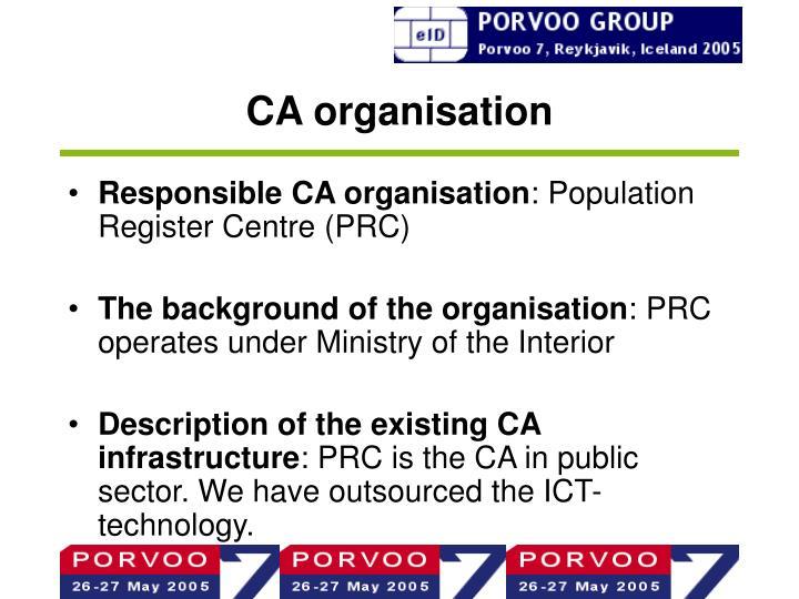 CA organisation