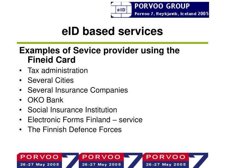 eID based services