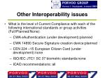 other interoperability issues