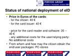 status of national deployment of eid4