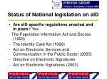 status of national legislation on eid2