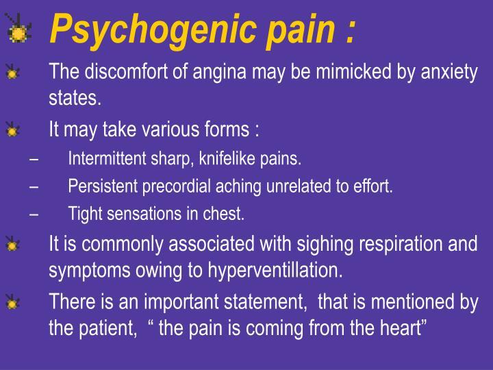 Psychogenic pain :