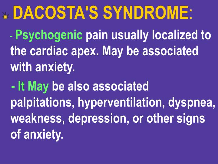 DACOSTA'S SYNDROME