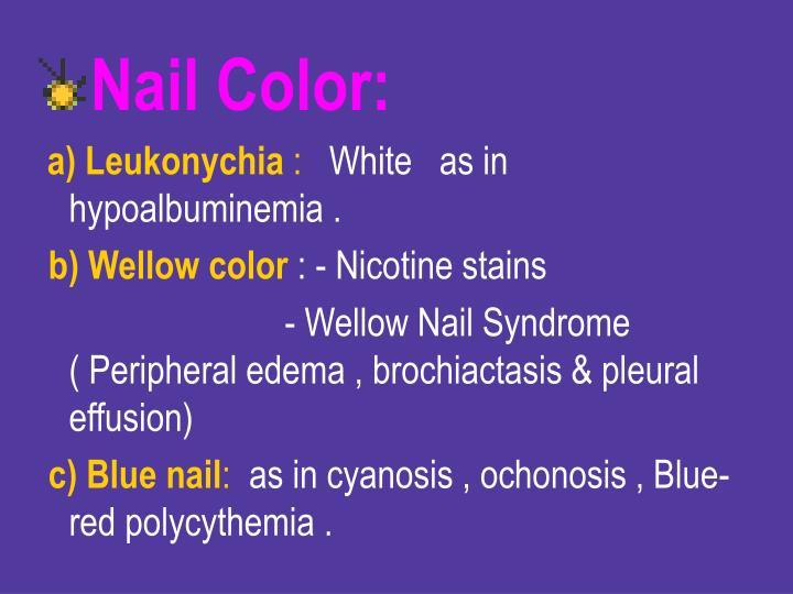Nail Color: