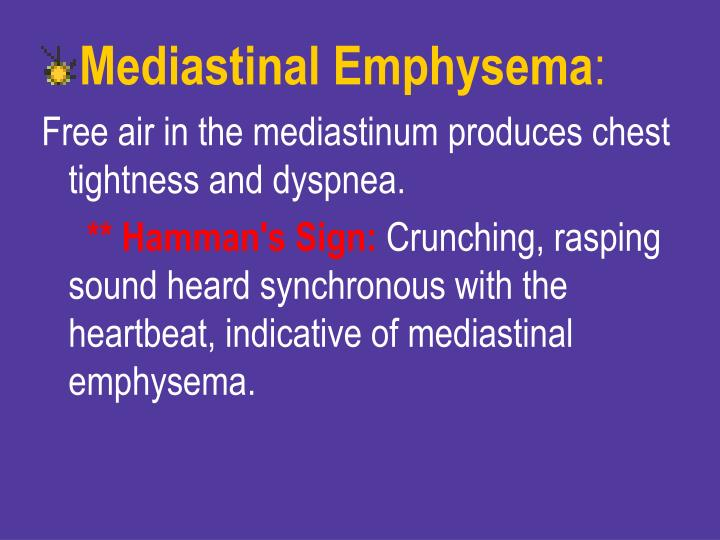 Mediastinal Emphysema