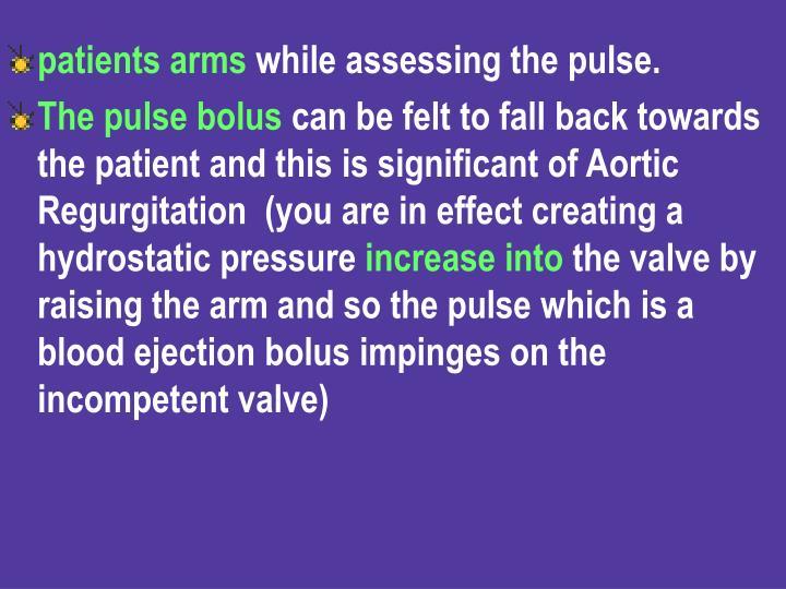 patients arms