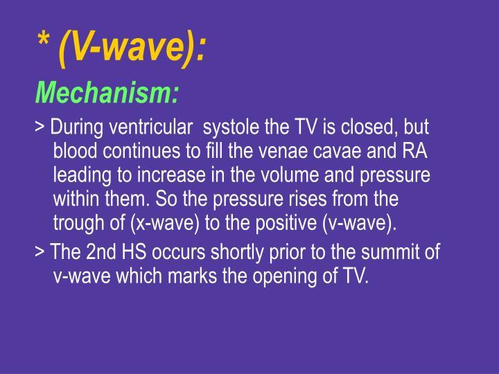 * (V-wave):