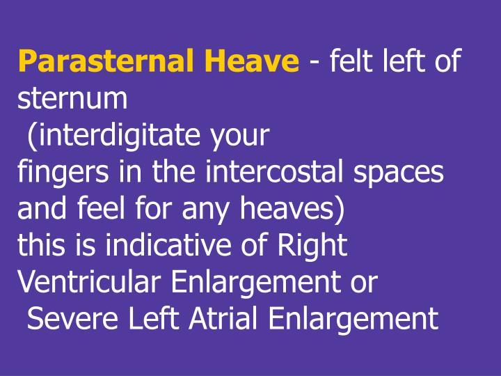 Parasternal Heave