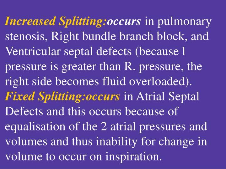 Increased Splitting: