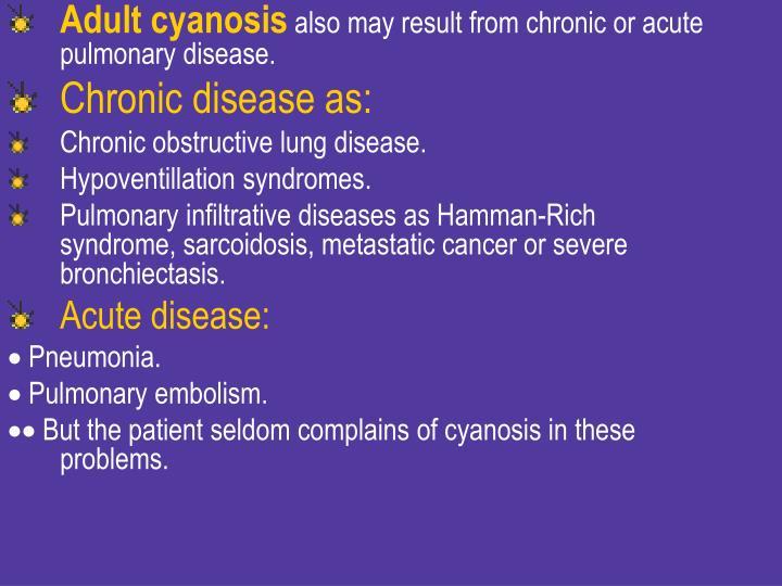 Adult cyanosis