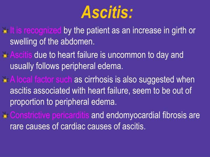 Ascitis: