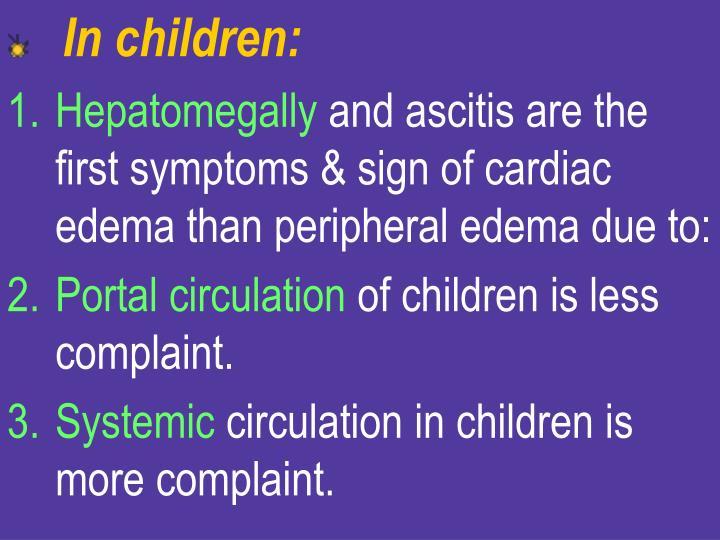 In children: