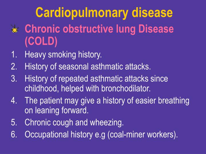 Cardiopulmonary disease