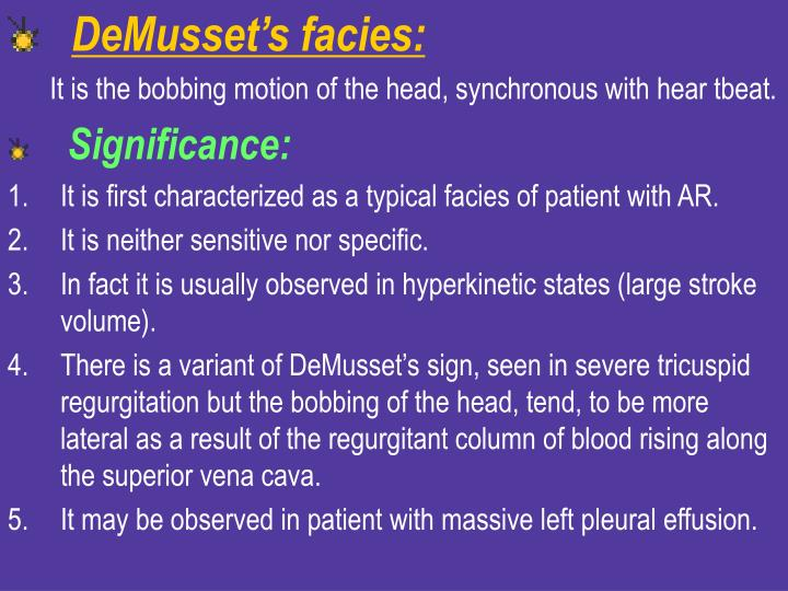 DeMusset's facies: