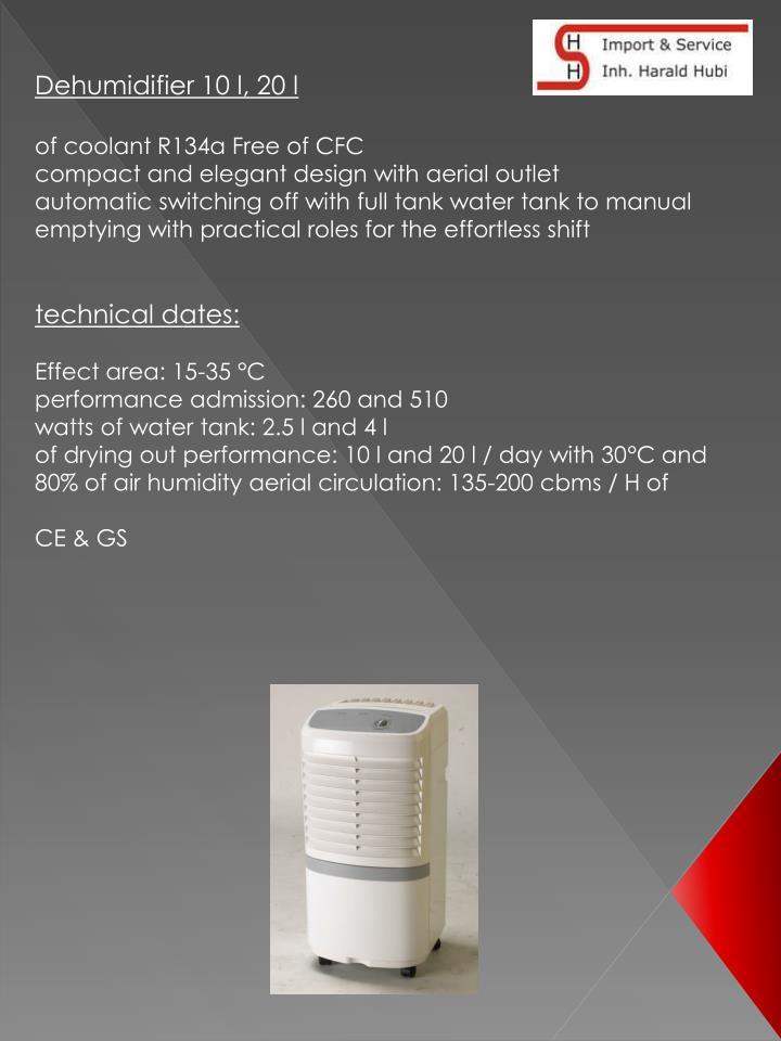 Dehumidifier 10 l, 20 l