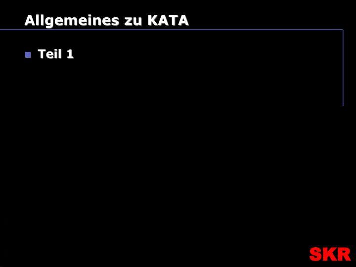 Allgemeines zu KATA