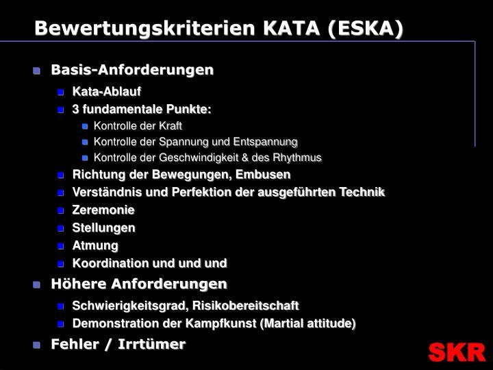 Bewertungskriterien KATA (ESKA)