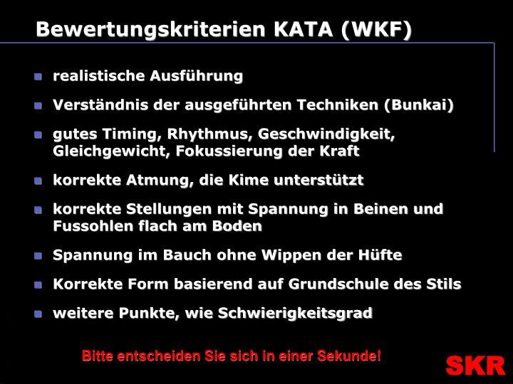 Bewertungskriterien KATA (WKF)