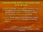 genezing komt door een besneden hart in de messias