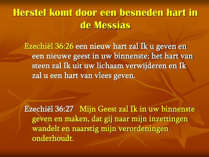 Herstel komt door een besneden hart in de Messias
