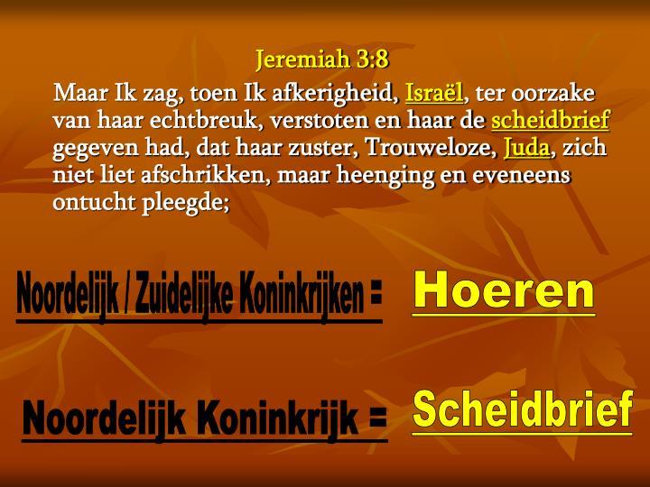 Jeremiah 3:8