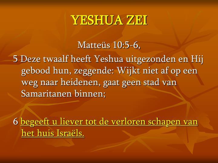 YESHUA ZEI