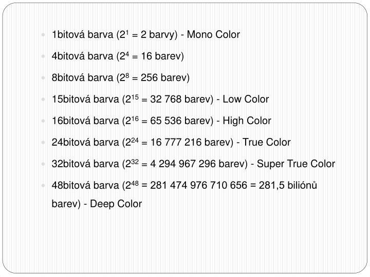 1bitová barva (2